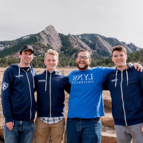 Students pose for a photo in Boulder Colorado